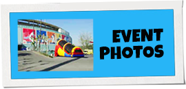 Promotional banner promoting photos from events that Party Pronto party rental company has hosted in Arcadia, CA