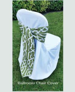 Ballroom Chair Cover and Sash