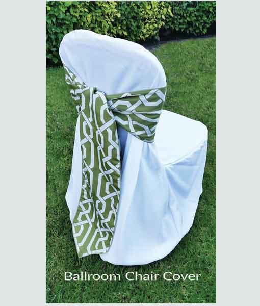 Ballroom Chair Cover and Sash