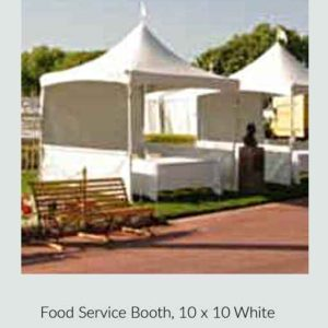 Food Service Booth White