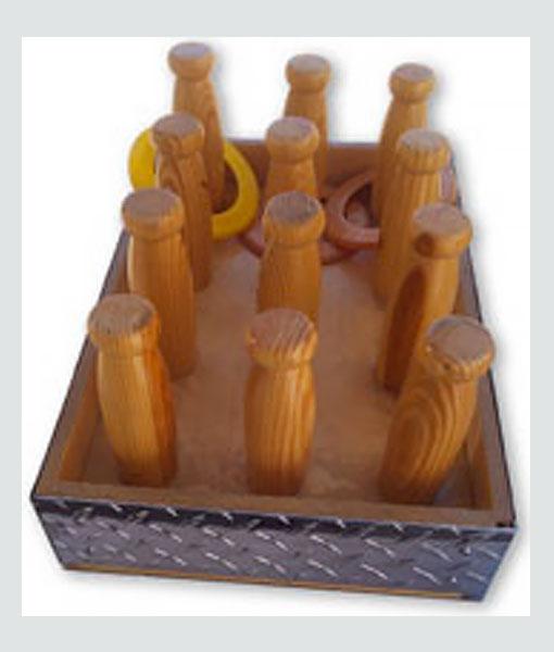 Bottle-ring-toss