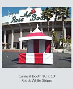 Carnival Booth 10 x 10 Red & White Stripes