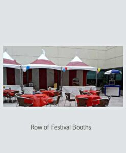 Festival Booths in a Row