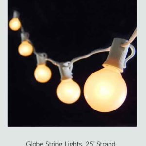 Globe String Lights, 25' Strand