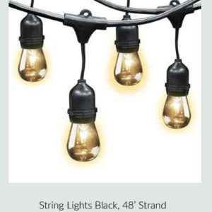 String Lights Black
