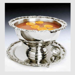 Punchbowl with Tray and Ladle Silverplate
