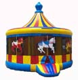 Merry go round inflatable rental from Party Pronto party rental company in Arcadia, CA
