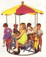 Merry go round carnival rental from Party Pronto party rental company in Arcadia, CA