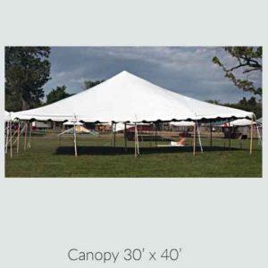 Canopy 30' x 40'
