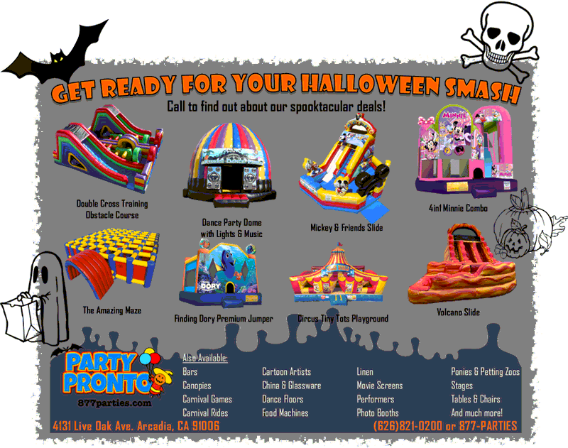 Party Pronto's spooktacular deals for Halloween.