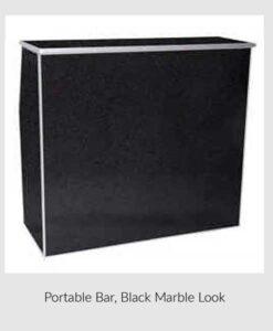 Portable Bar, Black Marble Look
