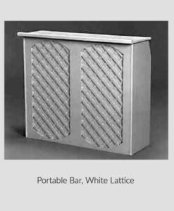 Bar, White Lattice