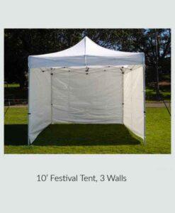 Tent 10' Festival 3 Walls