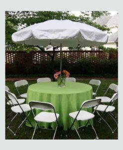 60-Inch Round Table w/ Umbrella