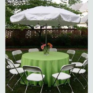 60-Inch Round Table w/ Umbrella