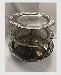 3-tier-tray,silverplate